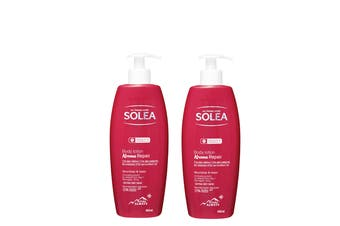 2 x Solea Skincare - Repair Body Lotion - Organic Edelweiss and Thermal Water from Switzerland - Dermatologist Approved  - 400ml Pump each