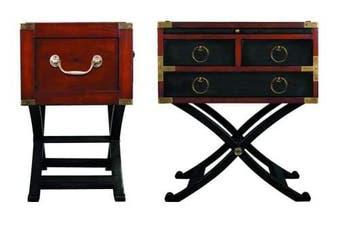 Bombay Box Black End Table Campaign Furniture