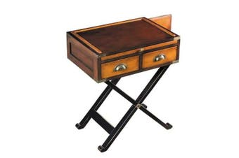War Chest Campaign Style Side Table