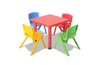 Set of 5 - Kids Table and Chairs Playset - Red