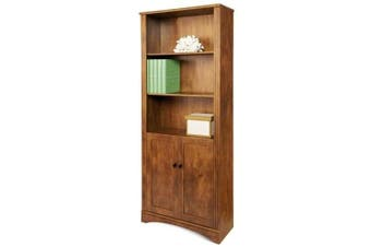 Cubic 5 Shelf Cabinet Bookcase - Brushed Maple
