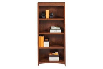 Magellan 4 Shelf Bookcase - Auburn Brown
