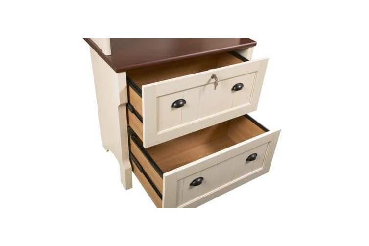 Nepean Benny File Cabinet With Hutch - Antique White