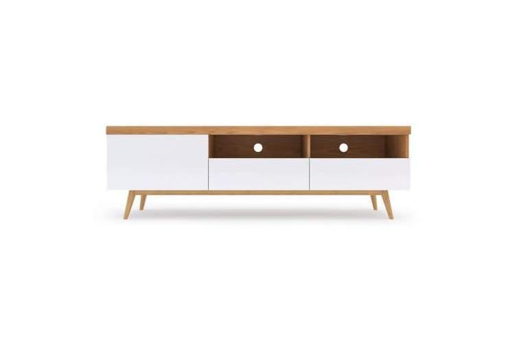 Latitude Entertainment TV Unit - 1.8m - White & Ash
