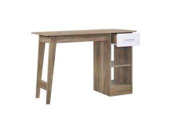 Endo Study Computer Desk - Natural / White