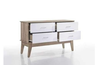 Nobu Sideboard Buffet Cabinet - Natural / White
