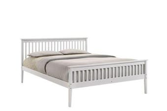 Melissa Wooden Pine Bed Frame - Queen - White