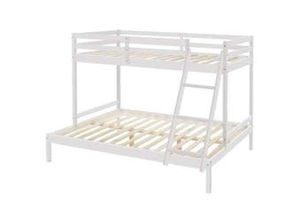 Astro Triple Bunk Bed - White