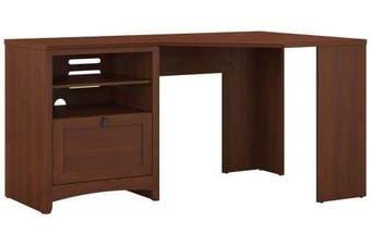 Buena Kambin Study Office Corner Desk With Storage - Serene Cherry