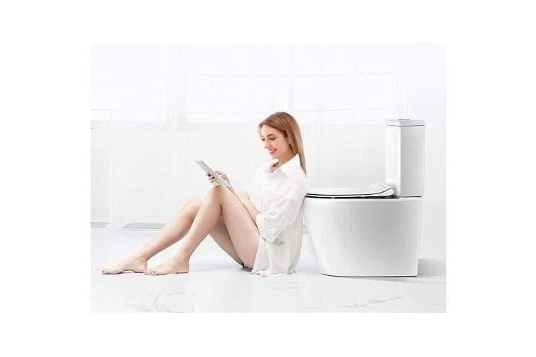 Cefito Toilet Suite Rimless Flush Back to Wall Soft Close Seat Wels White