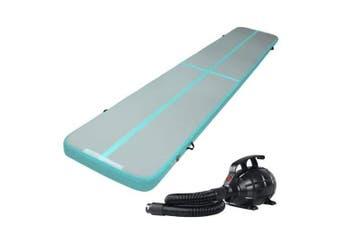 Everfit GoFun 5X1M Inflatable Air Track Mat with Pump Tumbling Gymnastics Green