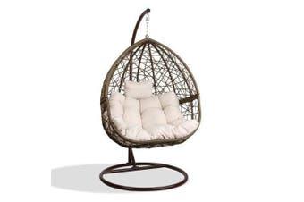 Gardeon Outdoor Hanging Swing Chair - Brown