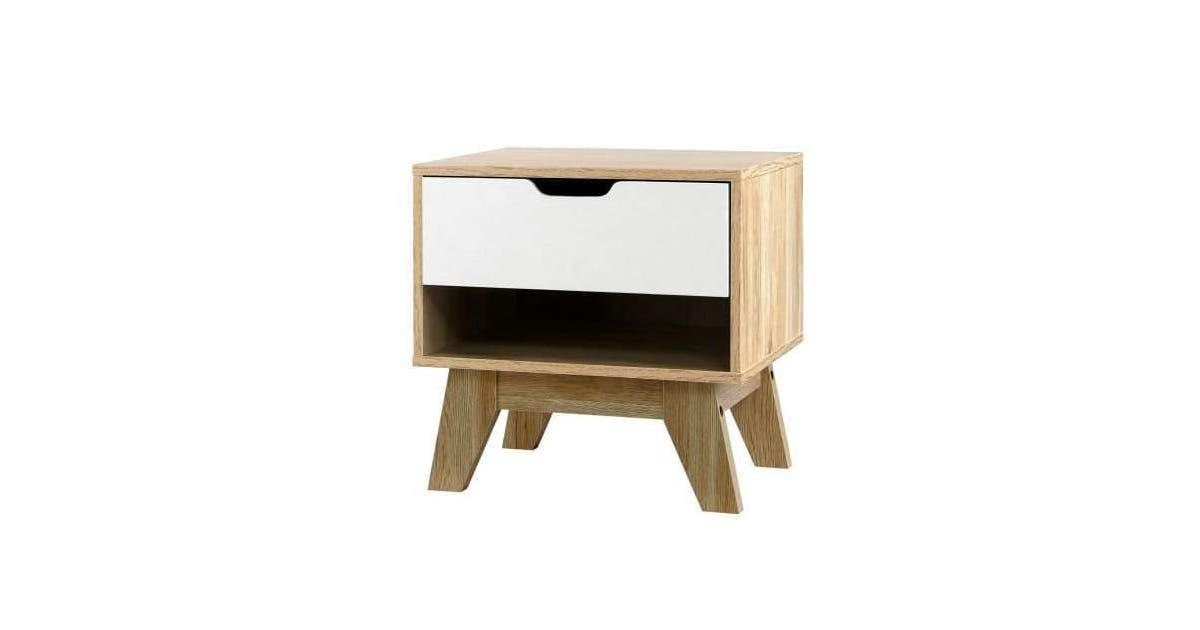1 103a0eef57 bedside table drawer nightstand shelf cabinet storage lamp side wooden nestz living 252