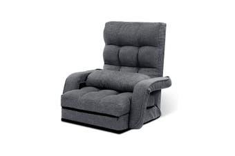 Lounge Sofa Armchair Floor Recliner Chaise Linen Folding Chair Adjustable