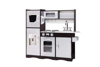 Keezi Kids Kitchen Set Pretend Play Food Sets Childrens Utensils Toys Black