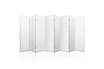 8 Panel Room Divider Privacy Screen Dividers Stand Oriental Vintage White