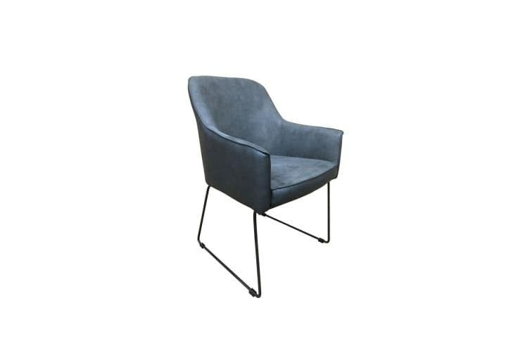 Set Of 2 - 6IXTY Ideal Accent Armchair - Dark Grey