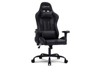 Gaming Office Chair Computer Chairs Leather Seat Racer Racing Meeting Chair Black