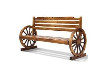 Gardeon Garden Bench Wooden Wagon Chair 3 Seat Outdoor Furniture Backyard Lounge