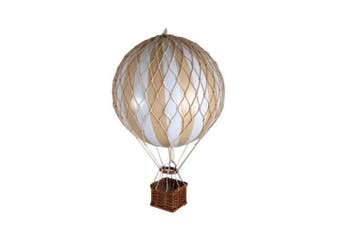 Authentic Models 8.5cms Floating The Skies Hot Air Balloon - White/Ivory