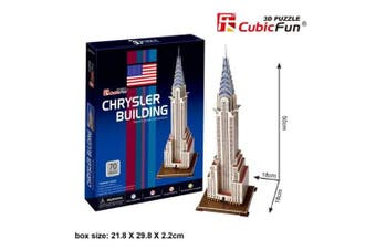 3D Puzzle Fun Kids Toys Chrysler Building - 70pc