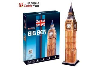 3D Puzzle Fun Kids Toys Big Ben - 47pc
