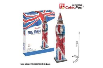 3D Puzzle Fun Kids Toys Big Ben - 47pc(Special Edition)