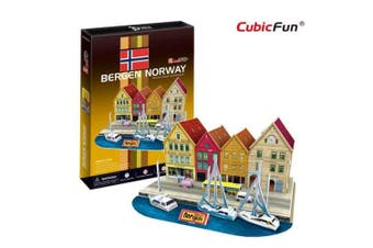 3D Puzzle Fun Kids Toys Bergen Wharf - 44pc