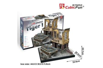 3D Puzzle Fun Kids Toys German Tiger I Mid Production