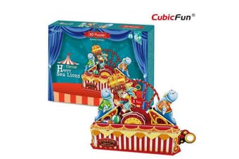 3D Puzzle Fun Kids Toys Circus - Happy Sea Lions