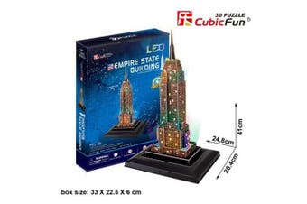 3D Puzzle Fun Kids Toys Empire State Building - 38pc