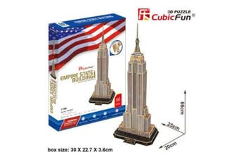 3D Puzzle Fun Kids Toys Empire State Building - 55pc