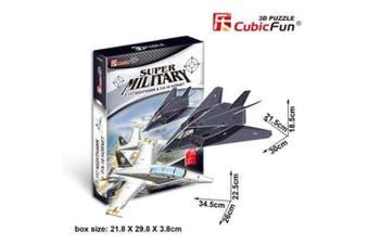 3D Puzzle Fun Kids Toys F-117 Nighthawk&F/A-18 Hornet