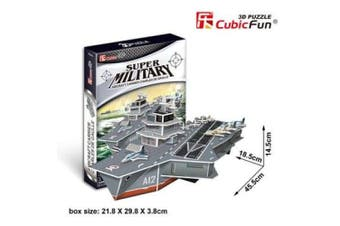 3D Puzzle Fun Kids Toys Aircraft Carrier Charles de Gaulle