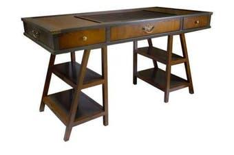 Authentic Models Navigators Historical Office Writing Desk - Grey