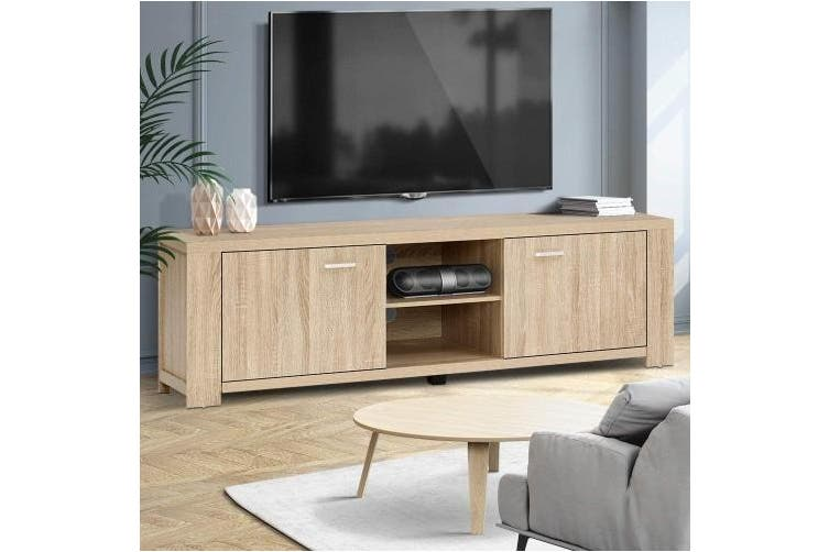 TV Cabinet Entertainment Unit TV Stand Display Shelf Storage Cabinet Wooden
