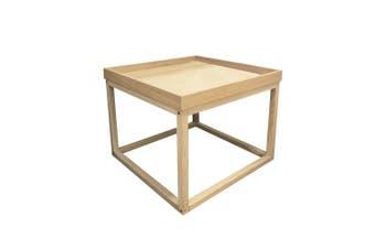 Danila Wooden Lamp Side Table - Natural