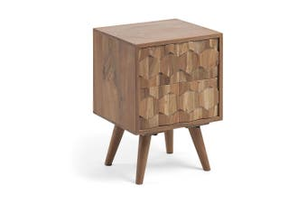 Irina Bed Side Table - Wattle Wood - Natural