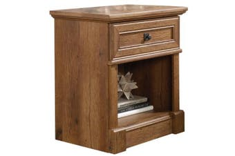 Palladia Night Stand Bed Side Table - Vintage Oak