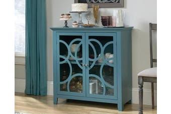 Shoal Creek Elise Storage Display Cabinet - Moody Blue