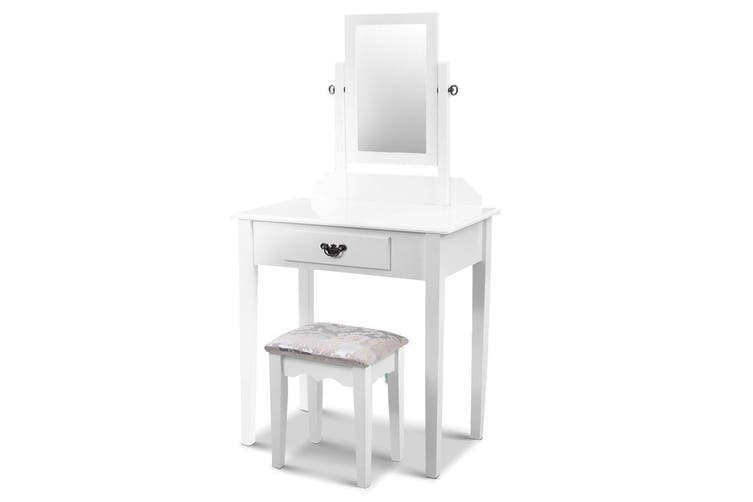 Dressing Table Stool Set Makeup Mirror Jewellery Cabinet Drawer Organizer