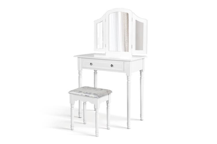 Dressing Table Stool Mirror Drawer Makeup Jewellery Cabinet Organizer