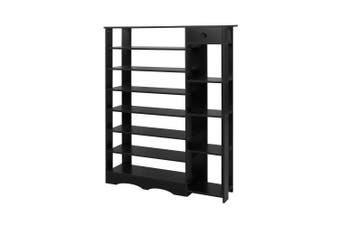 Shoe Cabinet Shoes Organiser Storage Rack Shelf Wooden 32 Pairs Black