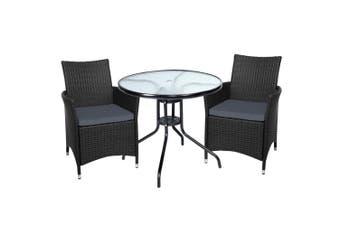 Gardeon Outdoor Furniture Dining Chair Table Bistro Set Wicker Patio Setting Tea Coffee Cafe Bar Set