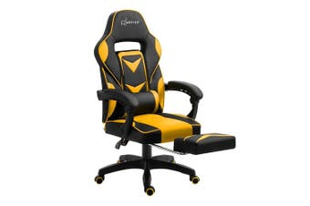 WarGame Office Chair Computer Desk Gaming Chair Study Home Work Recliner Black Yellow
