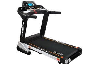 Electric Treadmill 48cm Incline Running Home Gym Fitness Machine Black