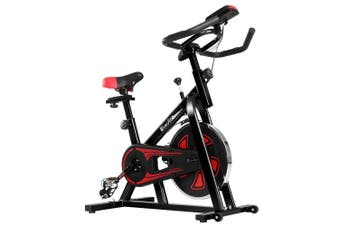 Spin Exercise Bike Cycling Fitness Commercial Home Workout Gym Equipment Black