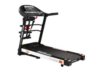 Electric Treadmill 450mm 18kmh 3.5HP Auto Incline Home Gym Run Exercise Machine Fitness Dumbbell Massager Sit Up Bar