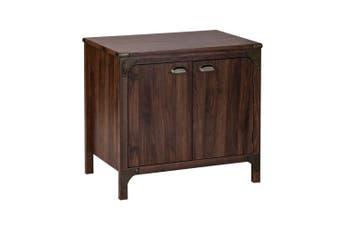 Logan 2 Door Storage Cabinet - Walnut