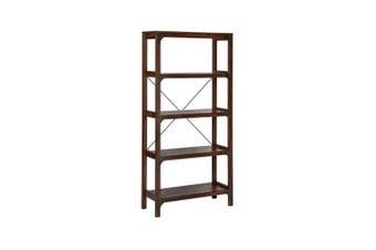 Logan 5 Shelf Display Bookcase - Walnut